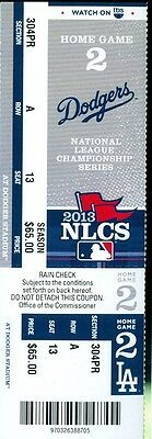 2013 Dodgers vs Cardinals NLCS Playoffs Ticket Game #4 Matt Holliday & Shane HR