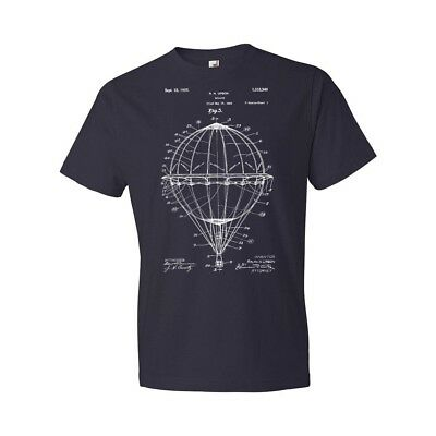 Hot Air Balloon T-Shirt Balloonist T-shirt Balloon Patent Pilot Gift Patent Art