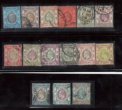 Hong Kong #71 - #85 VF Used Rare Set