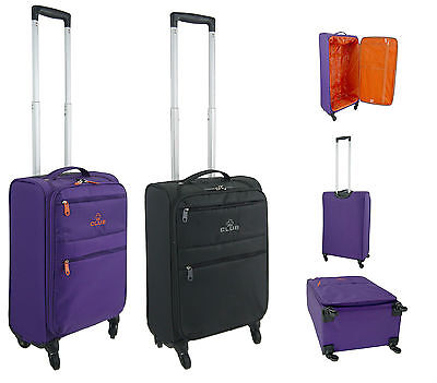 4 Wheel Spinner Light Weight lightest Suitcase Trolley Cabin Cases Bag Travel