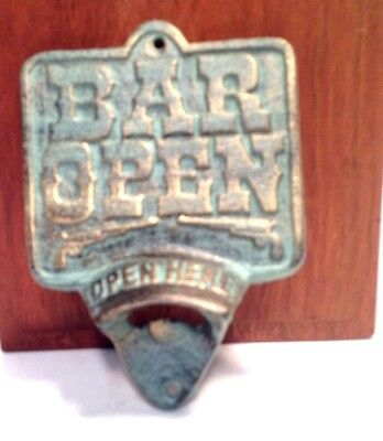 Architectural Cast Iron Western Style Bottle Opener New Vintage Man Cave Decor