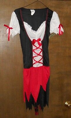 Pretty Pirate Halloween Costume Nwt Adult Size Gown Belt Headband & Eye Patch