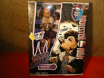 MONSTER HIGH CLAWDEEN WOLF GHOUL'S ALIVE boxed MATTEL
