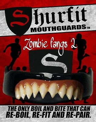 Shurfit Mouth Guard Boil and Bite Zombie Fangs Blood custom Design mouthpiece
