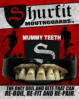 Shurfit Mouth Guard Boil and Bite Mummy Teeth Blood custom Design mouthpiece