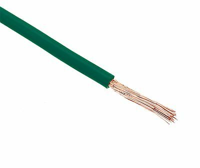 5 Metres Green 4mm PVC Stranded Wire 56/0.3mm