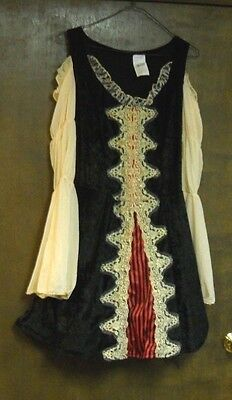 Buccaneer Beauty Halloween Costume Adult Dress & Hat Nwt Totally Ghoul