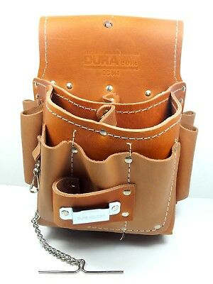 DURACUIR Construction Electrician Leather Tool Pouch Bag Klein Carpenter