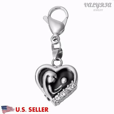 Mother's Cuddle in Heart Cremation Jewel Keepsake Memorial Urn Key Chain Clip