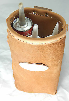 DURACUIR Construction Iron Worker Leather Tool Pouch Steel Wire Holder Bolt Bag