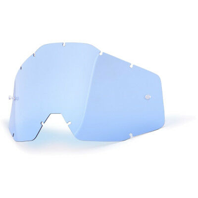 NEW 100 Percent Mx Racecraft Accuri Strata Goggles 100% Blue Replacement Lens