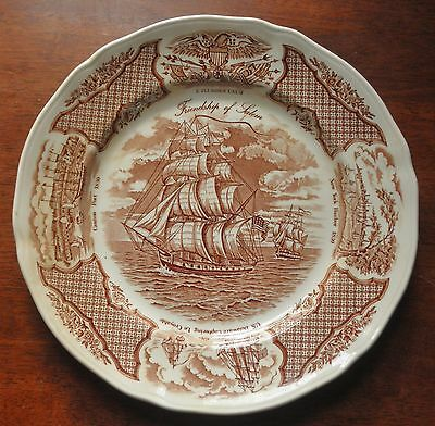 """Fair Winds ~THE FRIENDSHIP OF SALEM~ 10.5"""" Collector's Plate ~Alfred Meakin~"""