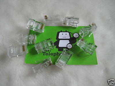 10 x RJ45 CAT 6 NETWORK PLUGS 8P8C ETHERNET CRIMP PLUG