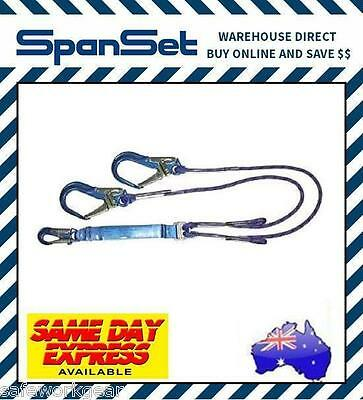 1.5m Spanset Access Rope Y Lanyard climbing access includes 50mm scaff hooks