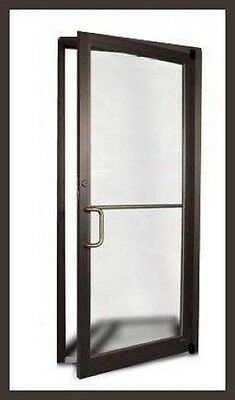 Aluminum Storefront Door Bronze 3-0 x 7-0  w/ Glass new in box. ADA compliant