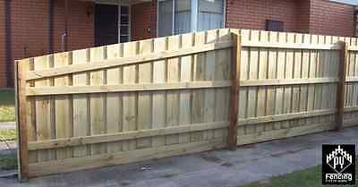 Treated Pine Paling Fence Fencing Package 8' 2.4m Hardwood Posts