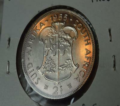 South Africa PROOF 1955 Silver Two Shilling Silver Florin