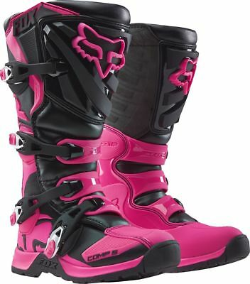 Fox Racing NEW 2017 Ladies Mx Comp 5 Pink Black Motocross Dirt Bike Womens Boots