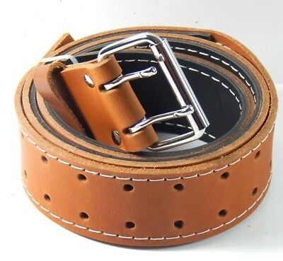 """DURACUIR Construction Leather Tool  Work Belt 2"""" Doubled  Occidental Klein"""