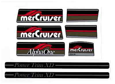 Mercruiser Alpha One Brown Gen I /gray Trims Decal Set