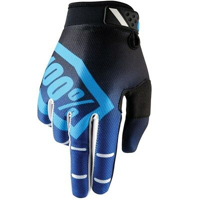 100% Percent NEW Mx Ridefit Corpo Blue Black BMX MTB Motocross Dirt Bike Gloves