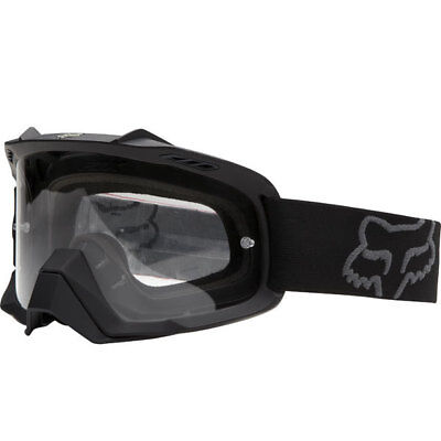 Fox Mx Gear 2015 AIRSPC Matte Black Motocross Dirt Bike Moto Lexan Lens Goggles