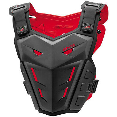 EVS Mx F1 Kids Motocross Black Youth Pee Wee Dirtbike Roost Guard Body Armour