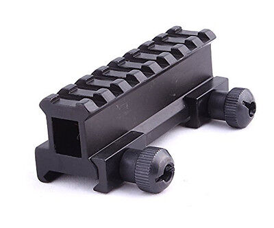 "1"" Picatinny Riser Flat Top Rail Scope Mount Tactical for Flashlight Laser Sight"