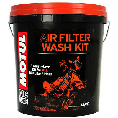 Motul Mx Gear Motocross Dirt Bike Motorbike Complete Air Filter Cleaner Wash Kit