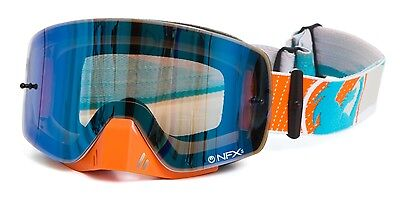 Dragon NEW Mx NFXs Frameless Vert Blue Ionized Tint Motocross Dirt Bike Goggles