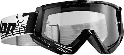Thor NEW Mx Conquer Black White Clear Lens Motocross Dirt Bike Goggles