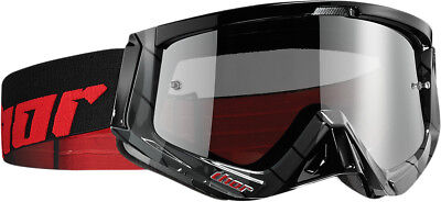 Thor NEW Mx Sniper Chase Black Red Tinted Lens Motocross Dirt Bike Goggles