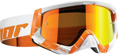 Thor NEW Mx Sniper Chase Orange White Tinted Lens Motocross Dirt Bike Goggles