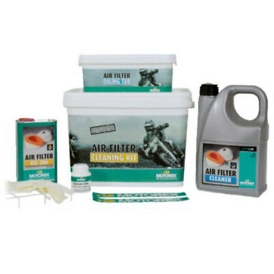 Motorex NEW Mx Grease Oil Cleaner Tub Gloves Motocross Air Filter Cleaning Kit