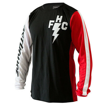 Fasthouse NEW Mx Vintage Air FH Crew Red White Black Vented Motocross Jersey