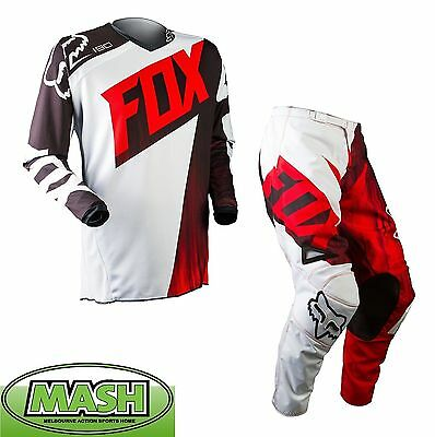 New 2015 Fox Mx 180 Vandal  Pant And Jersey Combo- Red Motocross Offroad Enduro