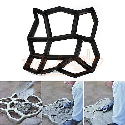 Plastic DIY Path Driveway Patio Garden Walk Maker Bricks Slabs Paving Mould