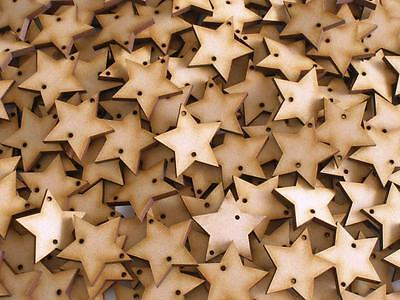 Wood Disk 2 Holes Birthday Event Calendar Star 3mm Thick 50mm Height