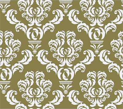 "Damask Wall Stencil Pattern Home Decor Art New Reusable size 13"" x 11"""