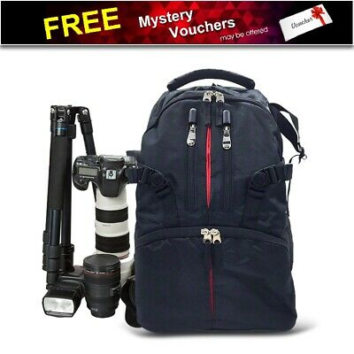 AU Waterproof Shockproof SLR DSLR Camera Bag Case Backpack For Canon Sony Nikon