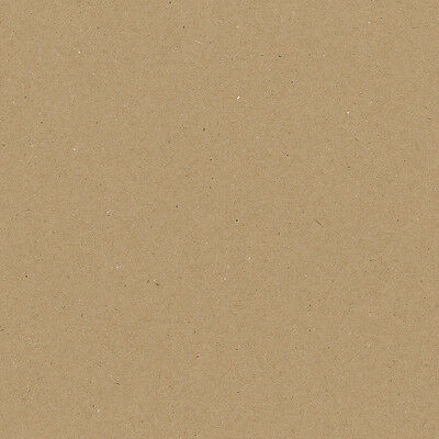 """A6 A5 A4 A3 A2+ 12""""x12"""" Eco Natural Fleck Brown Kraft 280gsm Card 100% Recycled"""