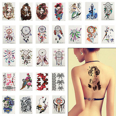 Women Cool Removable Waterproof Makeup Arm Back Temporary Tattoo Body Sticker