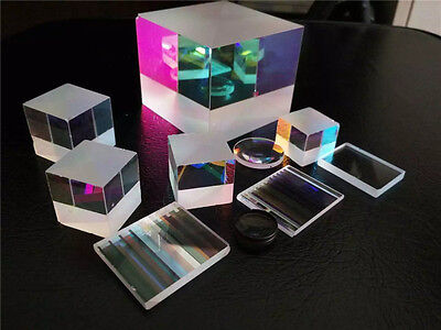4PCS Defective lens Prism Optical Glass Physics Decorative prism