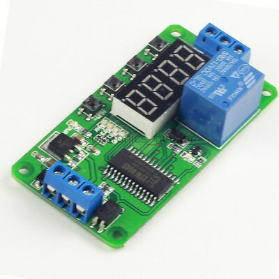 1 Channel Delay Time Relay Module LED Display Timer Switch DC 12V