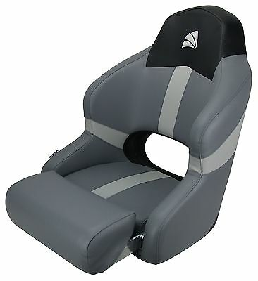 Boat Seat Sports Bucket  Seat With Bolster Black Carbon/ Grey Relaxn  New