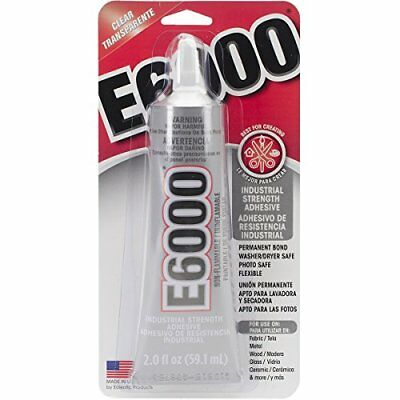 E6000 + FREE NOZZLE TIP Industrial Strength Clear Glue Crafts Jewellery 110ml