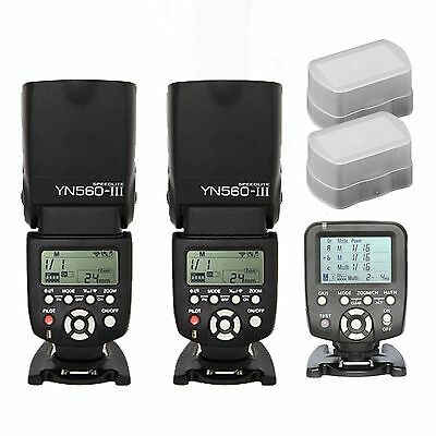 Yongnuo YN560-TX Wireless Controller for Nikon + YN-560 III Flash speedlite Kit