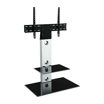 "Gloss Silver TV Stand Cantilever With LCD LED TV Wall Bracket for 32 - 55"" inch"