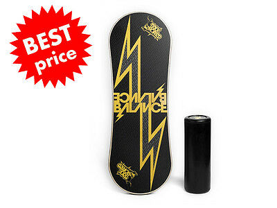 Trickboard Balance Indo Rollerbone Board - YELLOW THUNDER -fast delivery via GLS