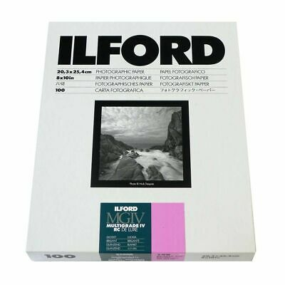 Ilford Multigrade IV RC Deluxe Glossy Paper / 20.3x25.4cm / 8x10inch / 100 Sheet